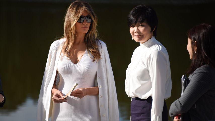 Melania Trump und Ehefrau des japanischen Premierministers Akie Abe