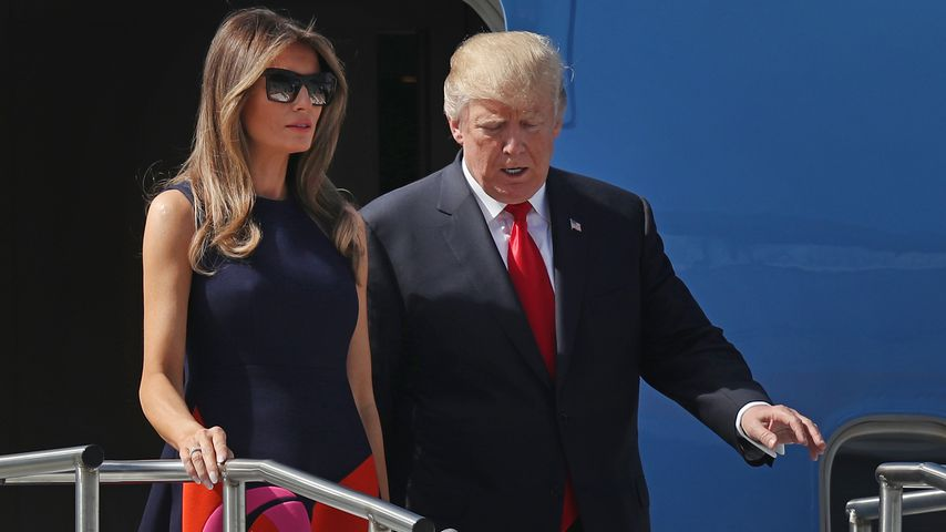 Melania und Donald Trump in Hamburg
