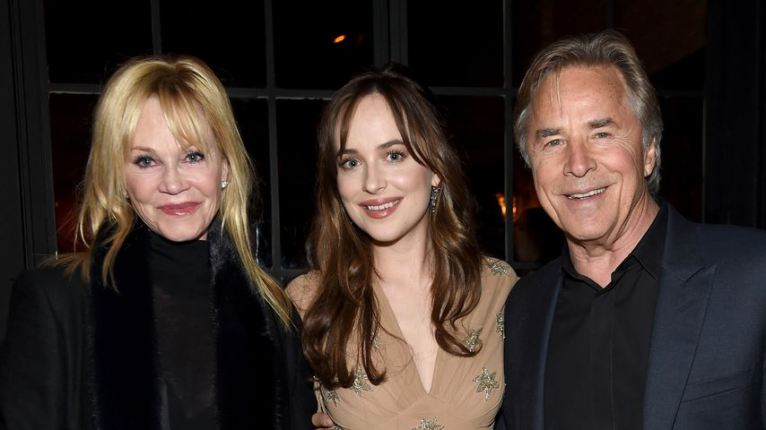 Melanie Griffith, Dakota Johnson und Don Johnson 2016 in New York