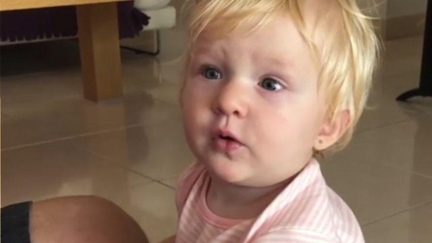 Melanie Müllers Tochter Mia Rose an ihrem ersten Geburtstag