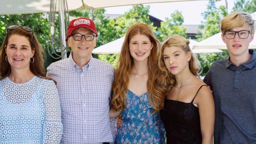 Melinda und Bill Gates mit ihren Kindern