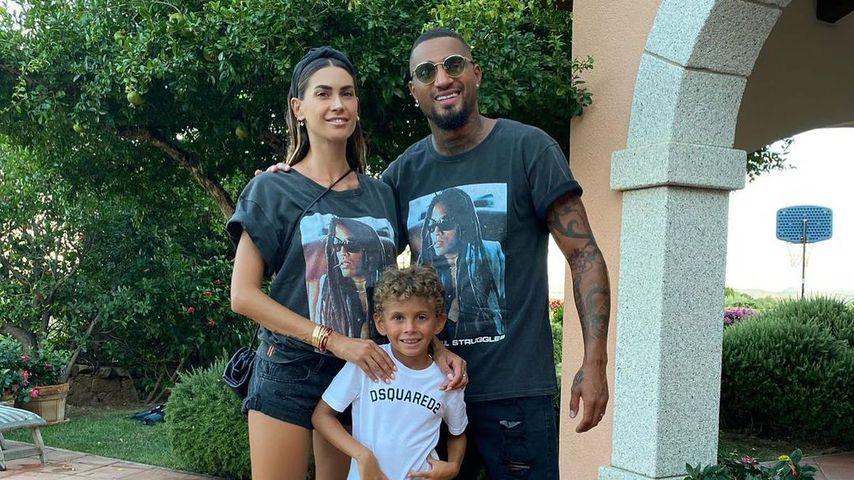 Melissa Satta, Kevin Prince Boateng und deren Sohn, 2020