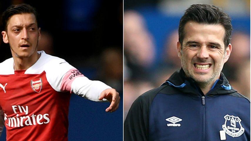 Aus Frust: Mesut Özil wirft seine Jacke nach Everton-Trainer