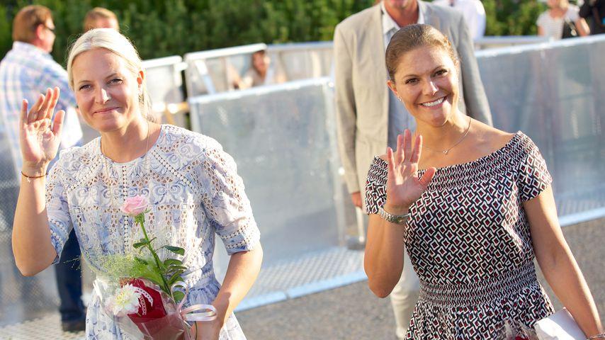 Mette-Marit und Victoria von Schweden