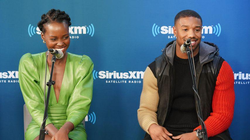Lupita Nyong'o und Michael B. Jordan beim Radiosender SiriusXM