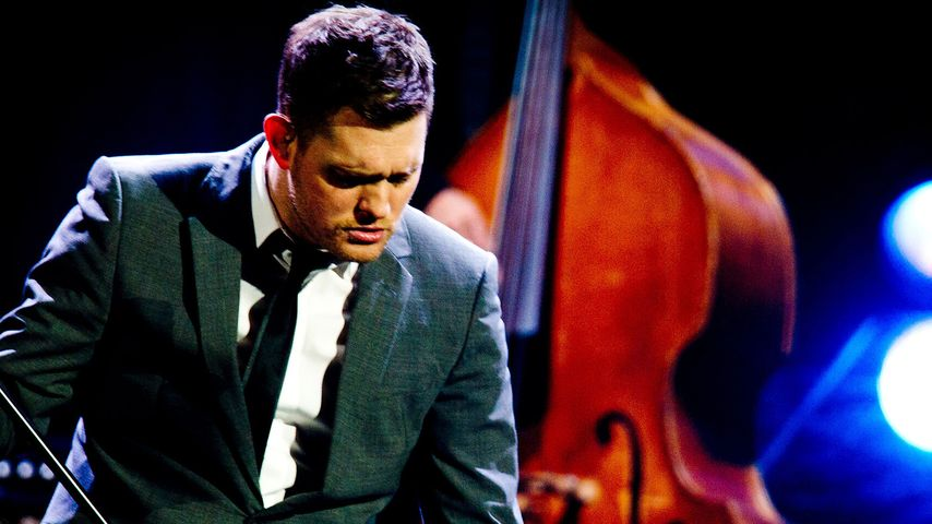 Michael Bublé während eines Konzerts