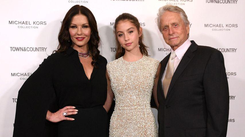 Michael Douglas mit seiner Frau Catherine und seiner Tochter Carys