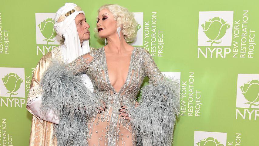 Michael Douglas und Catherine Zeta-Jones auf der Halloween-Party von Bette Midler, Oktober 2019