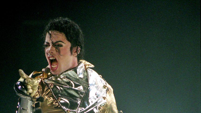 Michael Jackson bei einem Konzert in Neuseeland 1996
