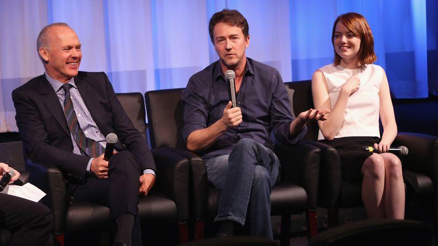 Emma Stone, Michael Keaton und Edward Norton