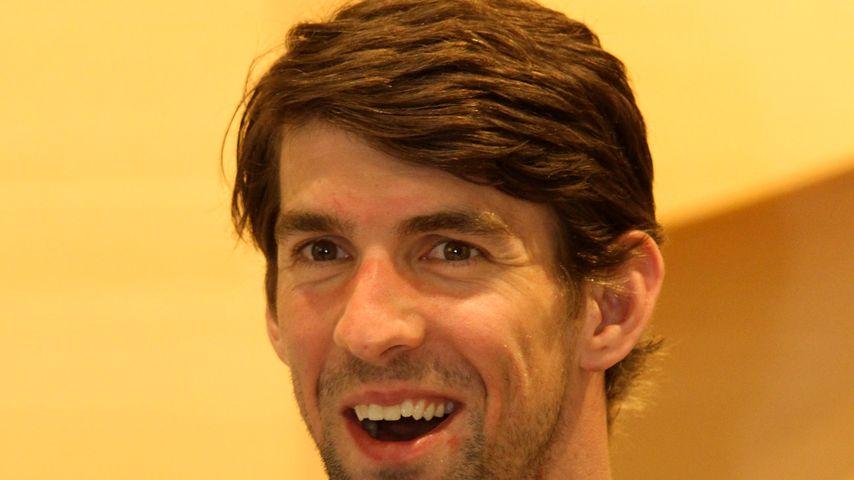 Michael Phelps bei einer Geschäftseröffnung in Brasilien