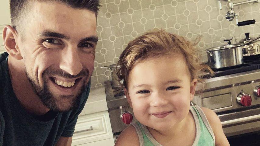 Michael Phelps mit Söhnchen Beckett