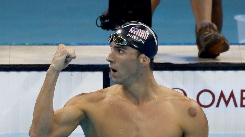 Michael Phelps nach einem Schwimm-Wettkampf bei Olympia 2016