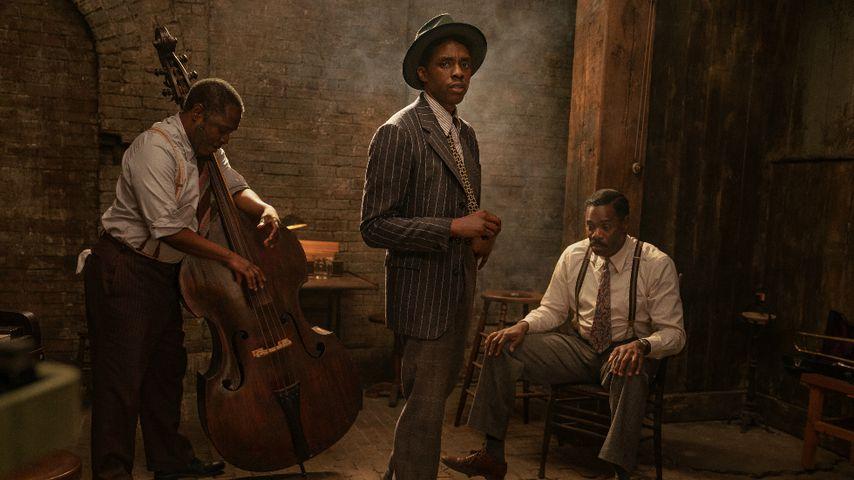 "Michael Potts, Chadwick Boseman und Colman Domingo in ""Ma Rainey's Black Bottom"""