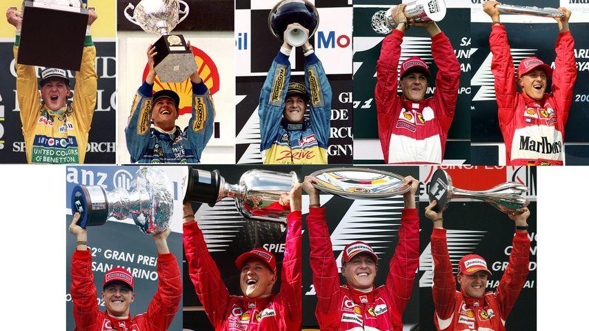 Michael Schumacher nach mehreren Formel 1-Siegen