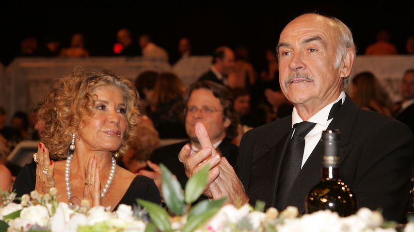 Micheline Roquebrune und Sean Connery im Juni 2006
