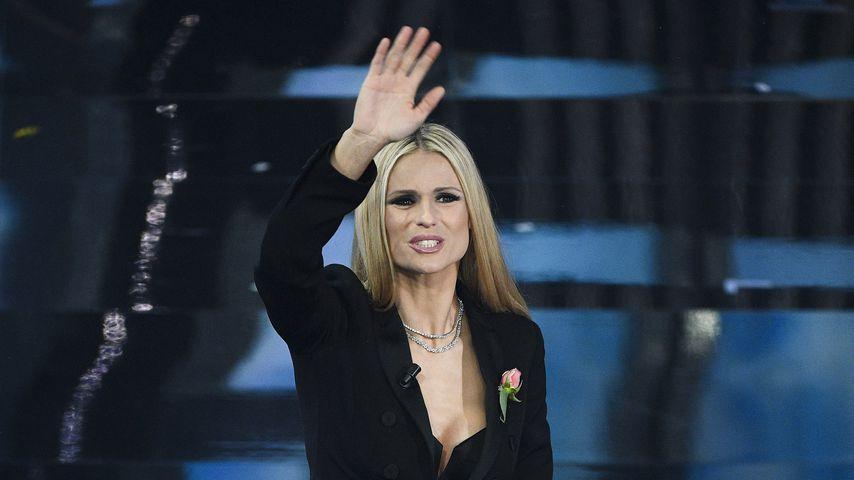 Michelle Hunziker beim Sanremo Music Festival