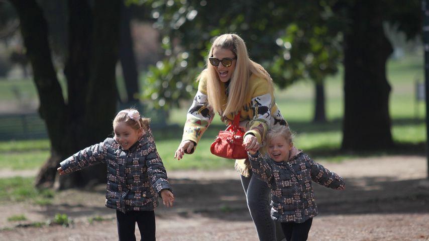Beste Spielkameradin: Michelle Hunziker tobt mit ihren Kids!