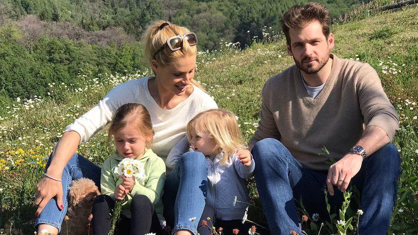 Michelle Hunziker, Tomaso Trusssardi und ihre Kinder Sole und Celeste