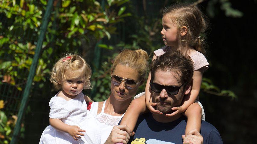 Michelle Hunziker und Tomaso Trussardi mit ihren Töchtern Sole und Celeste in Bergamo