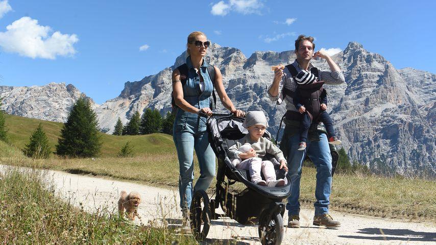 Michelle Hunziker und Tomaso Trussardi mit ihren Kindern im Urlaub in Südtirol