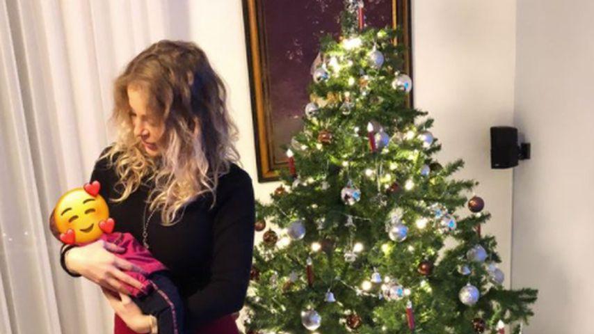 Michelle Schellhaas mit ihrem Baby