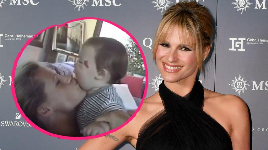 Michelle Hunziker teilt Babyaufnahmen ihrer Tochter Aurora