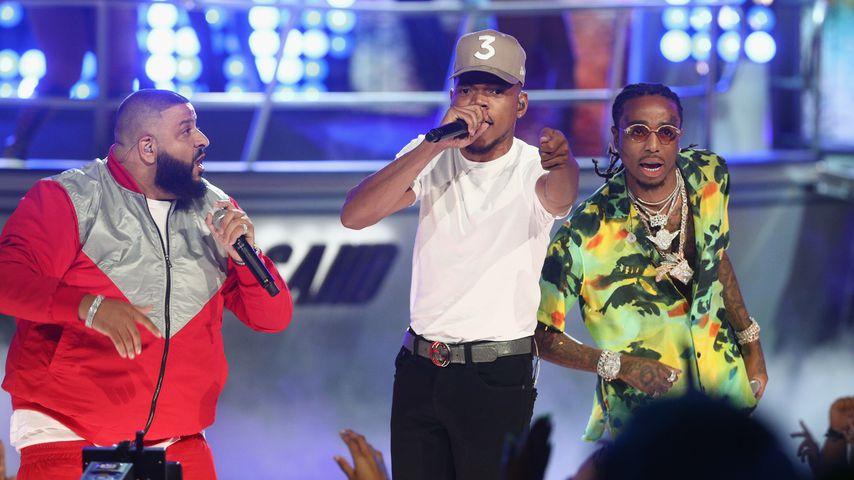 Quavo (Mitte) und seine Band Migos bei den BET Awards 2017