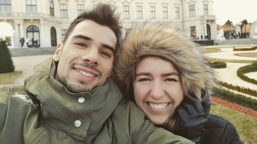 Miguel Oliveira und seine Verlobte Andreia Pimenta im Jahr 2018