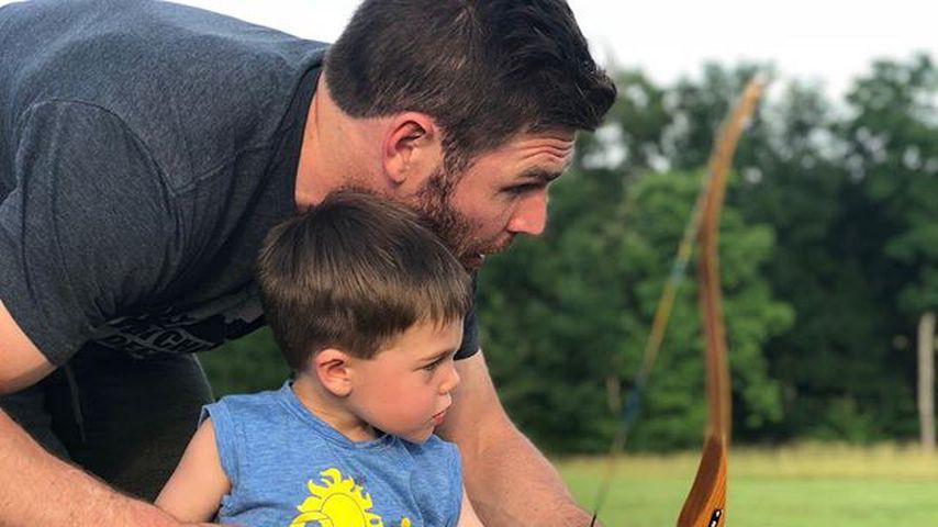 Mike Fisher und sein Sohn Isaiah