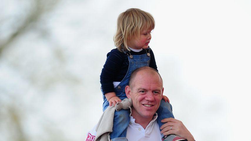Mike Tindall und seine Tochter Mia, 2016