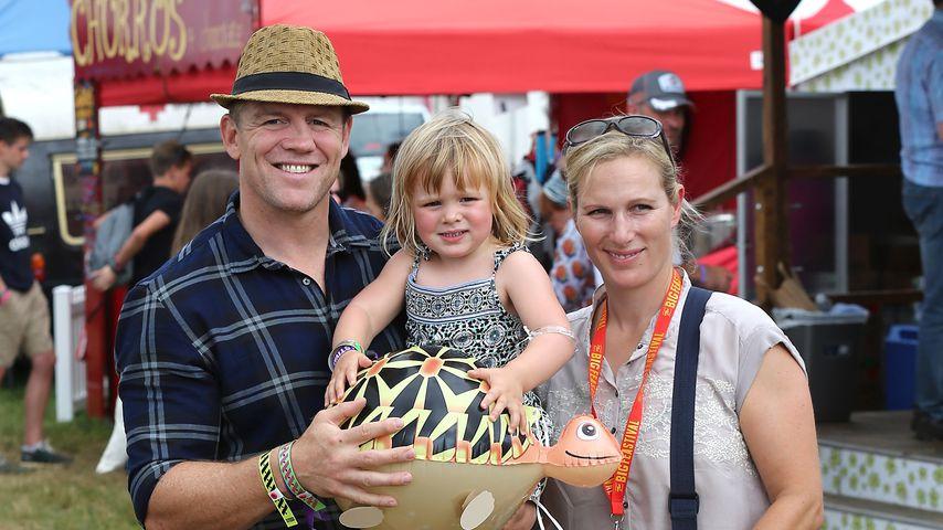 Mike Tindall und Zara Phillips mit ihrer Tochter Mia im August 2016