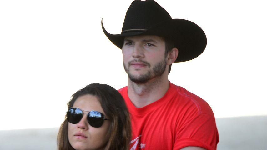Ashton Kutcher: Lässt er etwa die schwangere Mila im Stich?