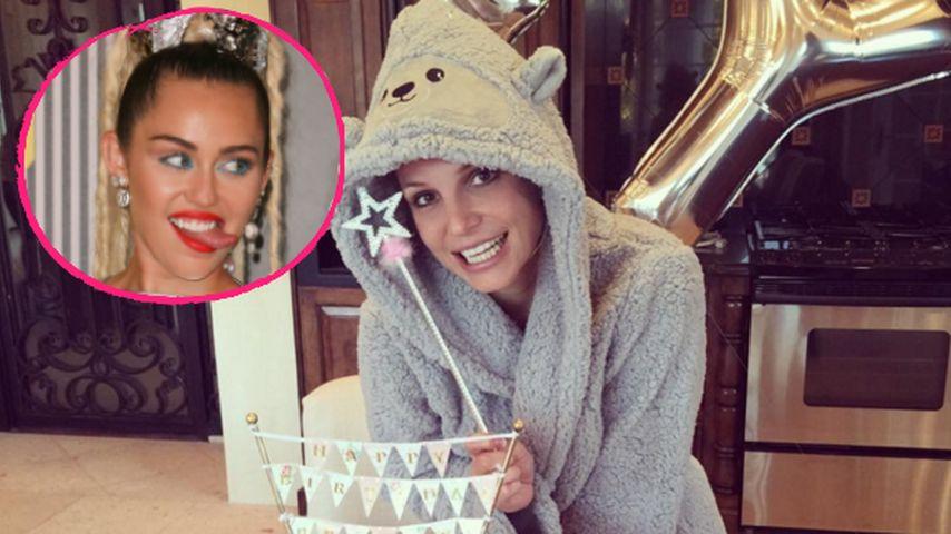 Riesen-Ballons für Britney: Miley Cyrus sendet Überraschung