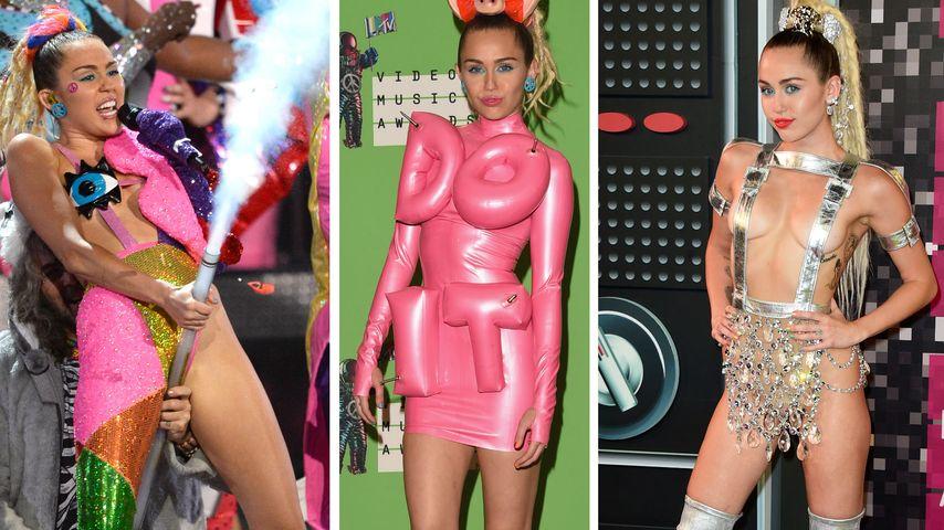 VMA-Hingucker! So freaky führte Miley Cyrus durch den Abend
