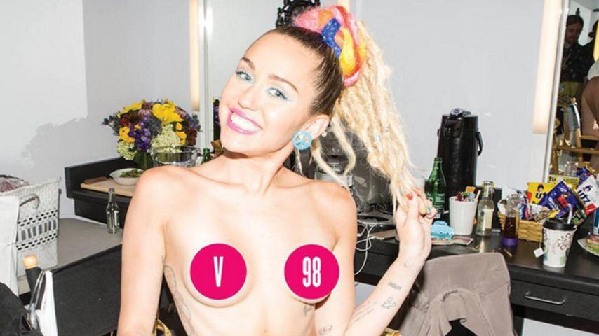 "Neues Mager-Level: Miley Cyrus völlig nackt im ""V-Magazine"""