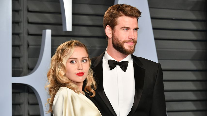 Miley Cyrus und Liam Hemsworth bei der Vanity Fair Oscar Party 2018