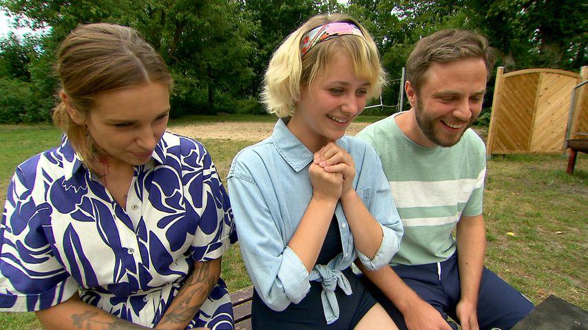 Milla (Liza Waschke), Amelie (Pia Trümper) und Eric (Christoph Dannenberg) bei BTN im September 2020