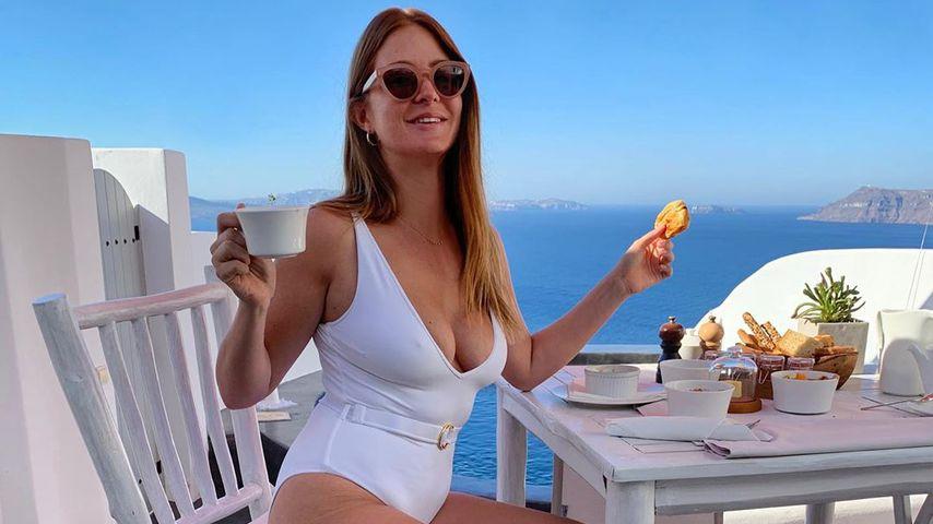 Millie Mackintosh auf Santorini