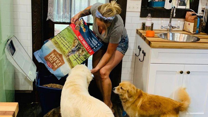 Miranda Lambert mit ihren Hunden im Juli 2020
