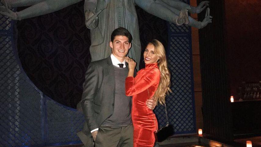 Steven und Mirjana Zuber, Fußballer und Model