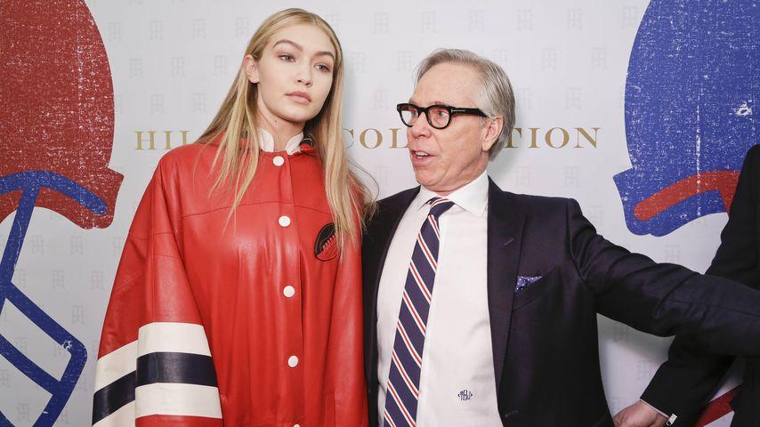Model Gigi Hadid und Fashion-Designer Tommy Hilfiger