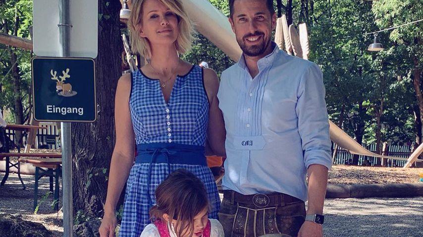 Monica Ivancan, Christian Meier und ihre Kinder Rosa und Anton