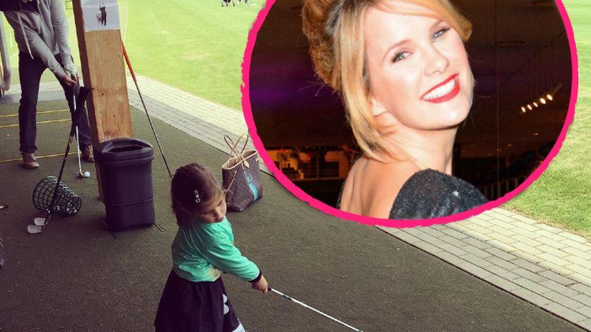 Putziges Pic: Monica Ivancans Tochter (3) ist ein Golf-Profi