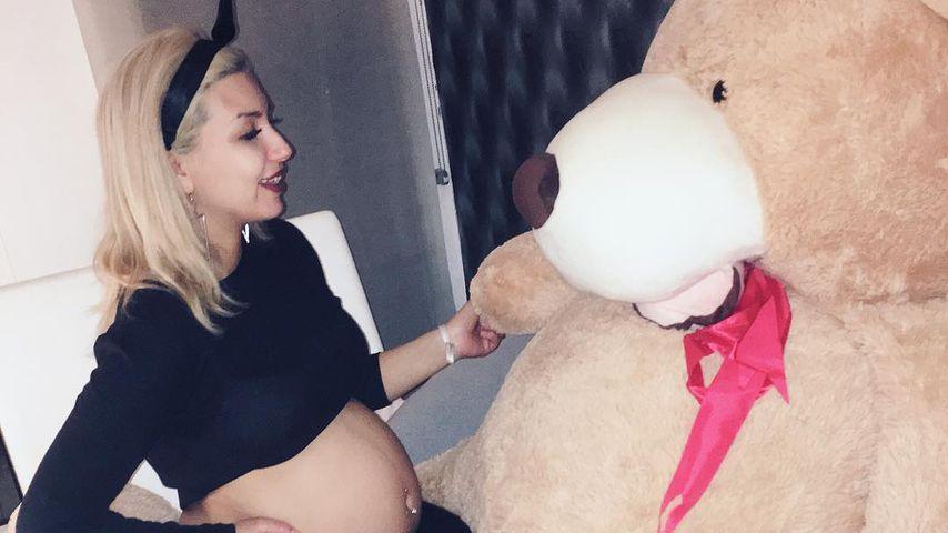 Monique Simon in ihrer 26. Schwangerschaftswoche