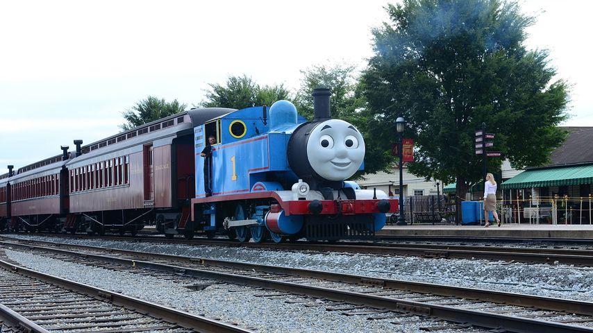Nachbildung von Thomas, die kleine Lokomotive