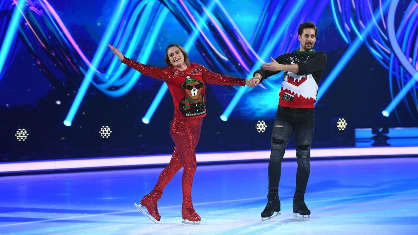 """Nadine Angerer und David Vincour bei """"Dancing on Ice"""" 2019"""