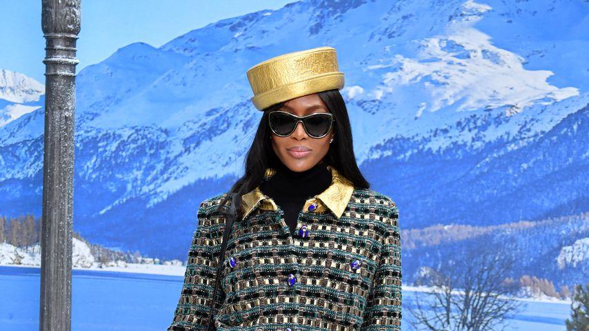 Supermodel Naomi Campbell während der Pariser Fashion Week, März 2019