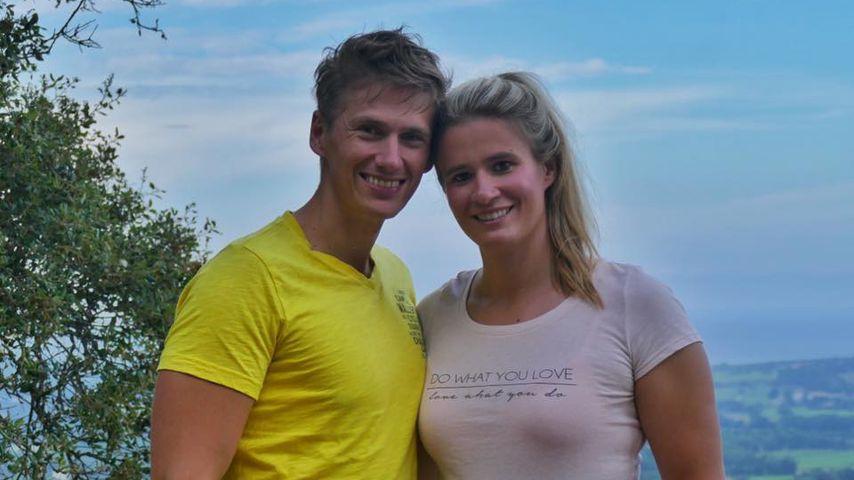 Rodlerin Natalie Geisenberger mit ihrem Freund Markus Scheer