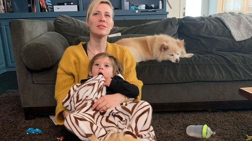 Natasha Bedingfield mit ihrem Sohn